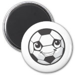 Happy Soccer Ball Smiling Refrigerator Magnet