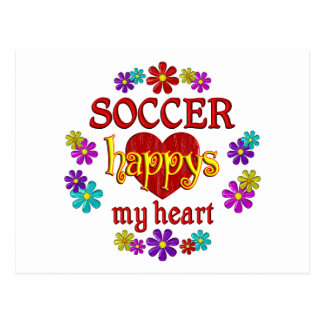 Happy Soccer Post Cards