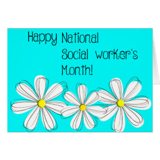 Happy Social Worker's Month Daisies Card