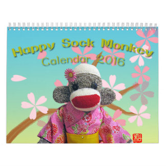 Happy Sock Monkey Calendar 2016