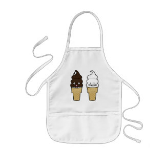 Happy Soft Serve Ice Cream cones Kids' Apron