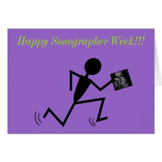 Happy Sonographer Week Cards Purple