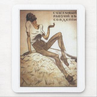 Happy Soviet Worker 1919 Mousepad
