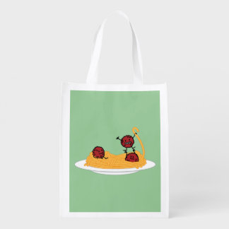 Happy Spaghetti and Meatballs Grocery Bag