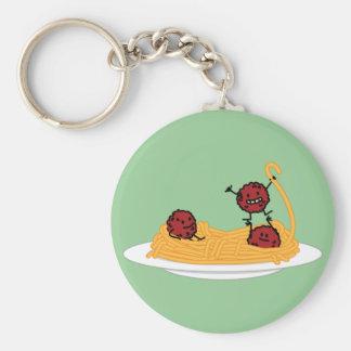 Happy Spaghetti and Meatballs Keychain