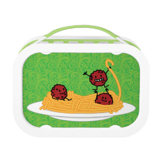 Happy Spaghetti and Meatballs Lunch Box