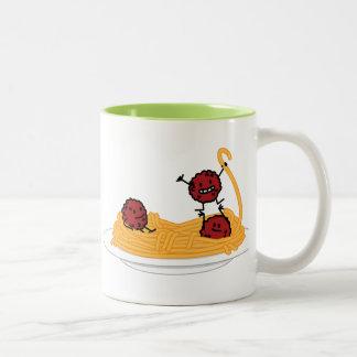Happy Spaghetti and Meatballs Mug
