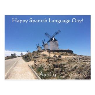 Happy Spanish Language Day! Postcard