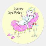 Happy Spa'thday stickers