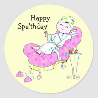 Happy Spa'thday stickers