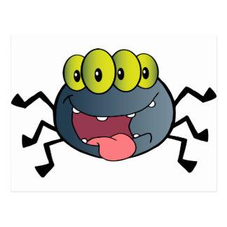 Happy Spider Cartoon Character Postcard