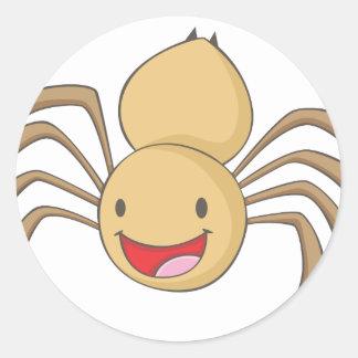 Happy Spider Classic Round Sticker