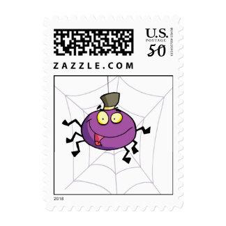 Happy Spider Postage Stamp