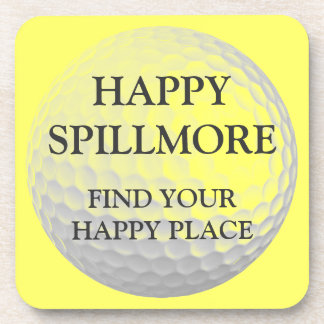 Happy Spillmore Happy Place Beverage Coasters
