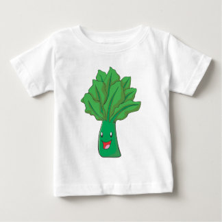 Happy Spinach Vegetable Cartoon Baby T-Shirt