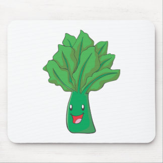 Happy Spinach Vegetable Cartoon Mouse Pad