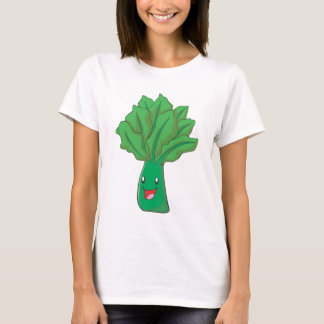 Happy Spinach Vegetable Cartoon T-Shirt