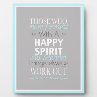 Happy Spirit Easel Display Plaque