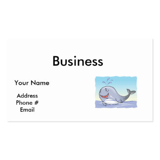 happy splashing whale business cards