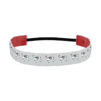 Happy Spotted Black White Dogs Headbands