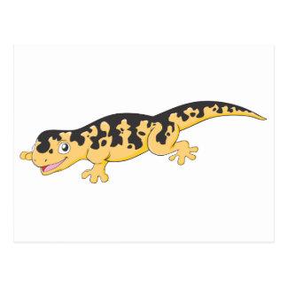 Happy Spotted Salamander Cartoon Postcard