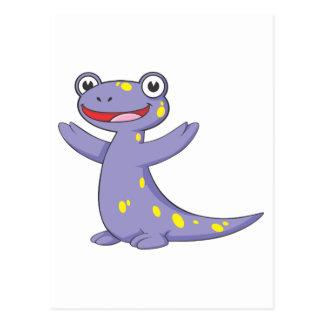 Happy Spotted Salamander Postcard
