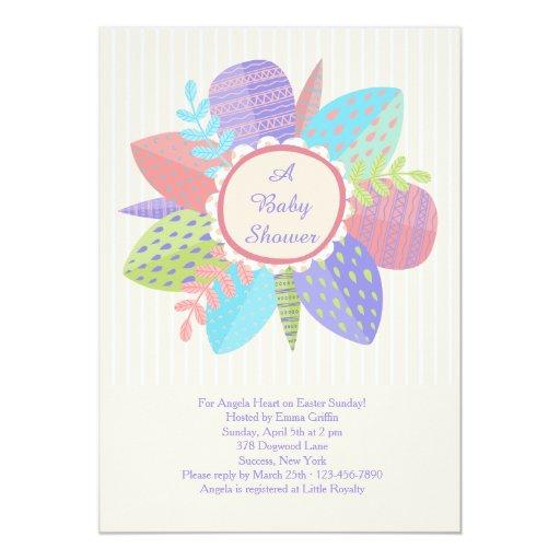 happy spring baby shower invitation zazzle