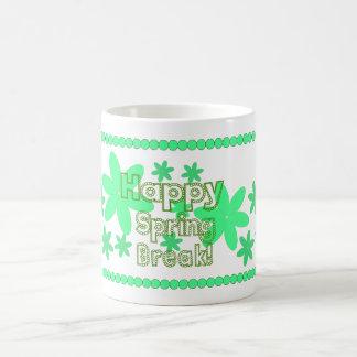 Happy Spring break in green mug