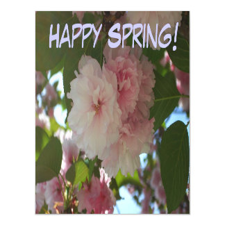 Happy Spring Double Blossoming Cherry Tree Magnetic Card