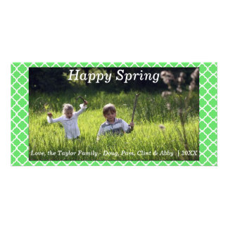 Happy Spring/Easter Photo Card Green