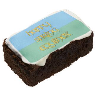 Happy Spring Equinox Brownies Rectangular Brownie