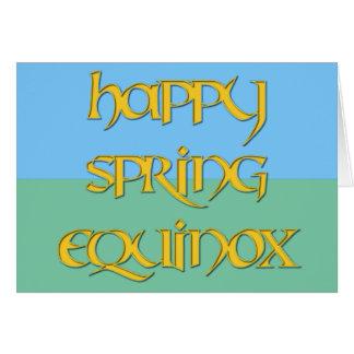 Happy Spring Equinox Card