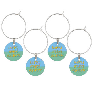 Happy Spring Equinox Charms for Party Glasses Wine Glass Charm