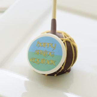 Happy Spring Equinox Chocolate Cakepop for Parties Cake Pops