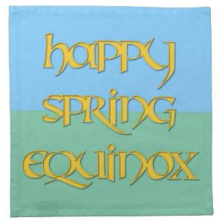 Happy Spring Equinox Cocktail Napkins (Cloth)