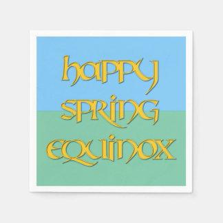 Happy Spring Equinox Cocktail Napkins (Standard) Standard Cocktail Napkin