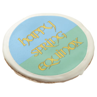 Happy Spring Equinox Cookies for Parties Sugar Cookie