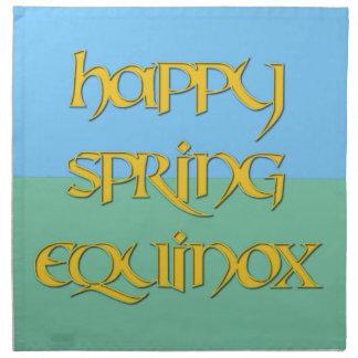 Happy Spring Equinox Dinner Napkin (Cloth)
