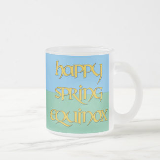 Happy Spring Equinox Frosted Beer Mug
