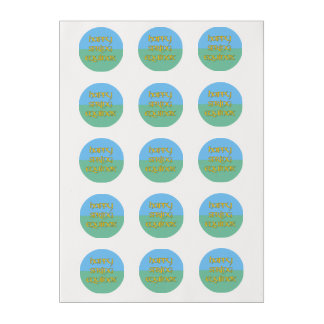 Happy Spring Equinox Frosting Rounds for Cakes Edible Frosting Rounds
