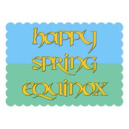 Happy Spring Equinox Invitation to a Pagan Event
