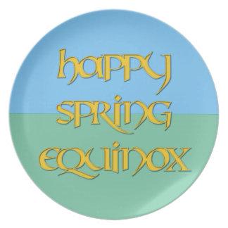 Happy Spring Equinox Melamine Party Plate