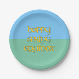 Happy Spring Equinox Paper Party Plate 7 Inch Paper Plate