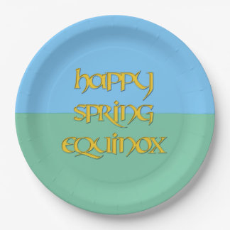 Happy Spring Equinox Paper Party Plate 9 Inch Paper Plate