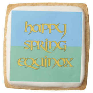 Happy Spring Equinox Party Shortbread Cookies