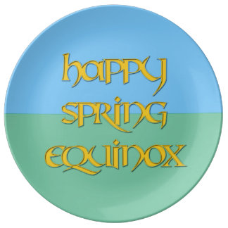 Happy Spring Equinox Porcelain Party Plate