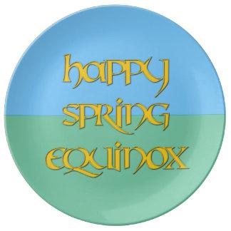 Happy Spring Equinox Porcelain Party Plate Porcelain Plates