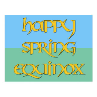 Happy Spring Equinox Postcard