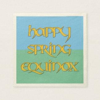 Happy Spring Equinox Standard Cocktail Napkin