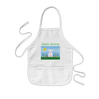 Happy Spring - Garden Bunny Child's Apron